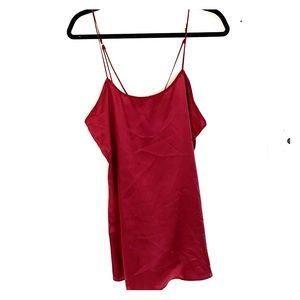 Urban outfitters maroon red satin slip dress S